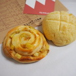 ネコノテパン工場 - サツマイモメープルバターロール&メロンパン