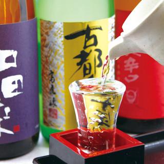 魚魯魚魯東陽町店全国各地から厳選地酒全30種類をご用意