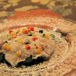タパス - 白身魚のカルパッチョ