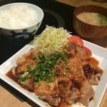 三匹の黒豚 - 生姜焼きランチ888円