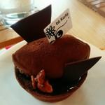 b's kafé - タルトショコラ。チョコ好きにおすすめしたい!タルト生地までチョコ!(^o^)これはうまい!