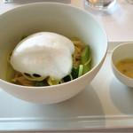 リストランテ オルケストラータ - 春野菜のスパゲッティー 帆立貝と蕗の薹のバターソース