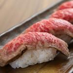 横浜牛の肉寿4司貫