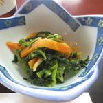 魚料理 いず松陰 - 伊豆のかき菜のおひたし