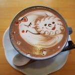 ラテハートカフェ - ラテアートココア♪                             月と太陽♡