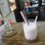 トラベラーズカフェ朔 - 珍珠いちごミルク(2010.3)