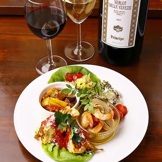 イタリアンで季節を味わう!豊富な一品料理◎