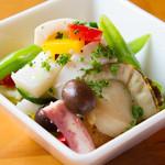 テンジンバル タケノヤ - 魚介のマリネ