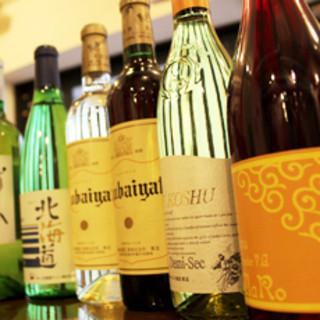 国産ワインの数々