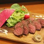 旬・和洋居酒屋 EARTH - ダチョウのステーキ
