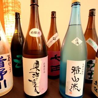 常時20種類以上の日本酒がございます!