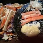 蟹奉行 - 鍋の蟹をかにかまみたいに!