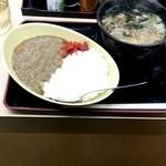 ゆで太郎 - カレーセット・温かいそば550円