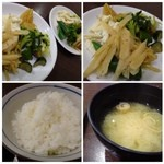 きんのつる - ご飯・お味噌汁は普通。