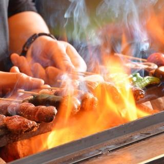 ★新鮮な串を備長炭で焼き上げます♪旨味が凝縮された一本☆