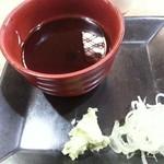49200695 - 独特なつけ汁とまずま種の山葵、小口葱