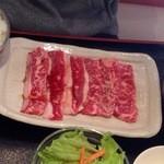 名門 - 和牛カルビ焼きセットの肉