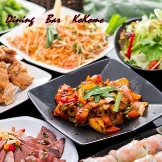 和・洋・エスニックの各種創作料理が並ぶ宴会コース