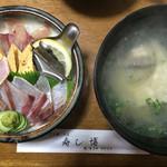 寿し博 - 料理写真:あぶり寿し博丼=1200円 前回と同じ。3月25日実食