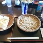 石窯料理・石臼挽きそば 花園 - 天盛りそば1500円(税別)