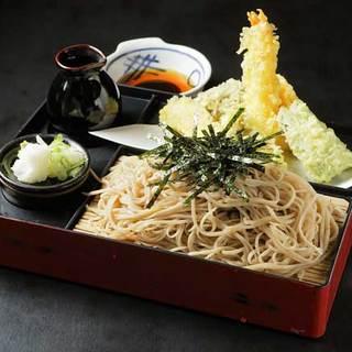 草笛 - 料理写真:海老天そば 1,350円