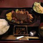 甘太郎 - ビッググリルドチキン定食 ¥750