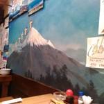 酒と肴のぬくもり宿 おふろ - 銭湯のような富士山の壁画?