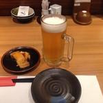 牛タン ささ川 - 牛たん ささ川 赤羽東口店:ビール