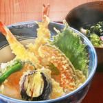 旬味和膳 季乃庄 - 天丼セット(うどん付) 1100円