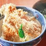 旬味和膳 季乃庄 - 穴子天丼(うどん付)1300円