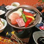 旬味和膳 季乃庄 - 陶板焼膳 2000円