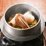 旬味和膳 季乃庄 - 釜飯(穴子・鶏・鯛・海老・牡蠣・蛸)1000円