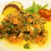地下宮殿 - 料理写真:スズキのオーブン焼き トマト・レモン・オリーブの香り(1700円)