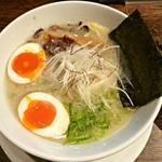 丸鶏 白湯ラーメン 花島商店 - 【煮玉子濃厚鶏白湯ラーメン】¥850
