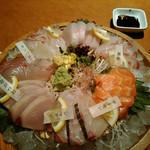 Hiroumi - 牛深直送刺身七点盛り。             2,500円くらい。