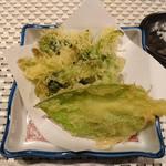 旬嘉ふじ - 4品目:山菜の天麩羅