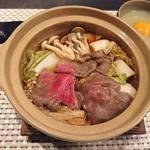 旬嘉ふじ - 5品目:能登牛のすき焼き