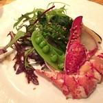 49234007 - ロブスターと春野菜のサラダ