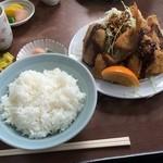 梅月食堂 - ミックスフライ定食(¥600円)