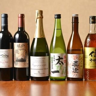 県産ワインと諏訪の地酒