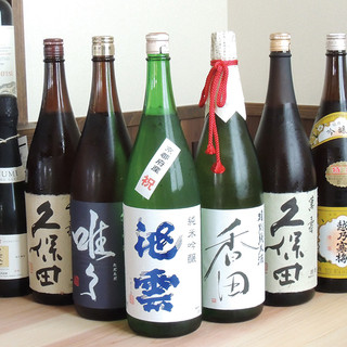 日本酒他、お酒にもこだわりがあります。