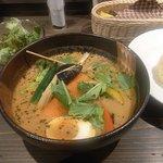 銀座スープカレー菜時記 - 彩り野菜(白スープ)