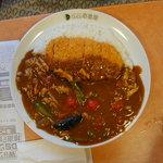 CoCo壱番屋 - ポークカレー+チキンと夏野菜+ロースカツ(4辛)(1110円)(2010/08/12)