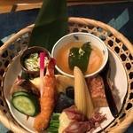 一喜 - ランチ 竹籠弁当