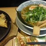 丸源ラーメン - Aセット(成醤油ネギラーメン変更、鉄板玉子チャーハン(小)、餃子)