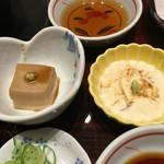 つるはん - 胡麻豆腐と湯葉の刺身