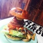リーフ  バーガー - 粗挽きメキシカンバーガー‼