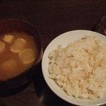 4929457 - 玄米ご飯とおみそ汁
