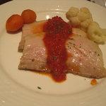高輪バール・デルソーレ - 豚肉、柔らかかったです