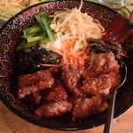 鉄火 - 牛カルビビビンバ丼 800円